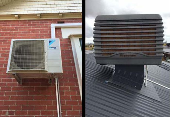 Evaporative Cooler Cleaning Limestone